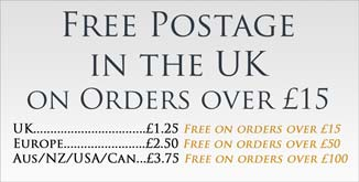 Free postage on orders over £15 in the UK